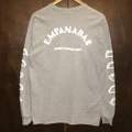 empanadas wax l/s tee heather gray.reflector