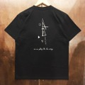 AREth tee 2020 SUMMER galaxy BLACK/WHITE