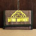satori wallet half link tri-fold SAND