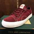 state shoe harlem x politic BLACK.CHERRY canvas/suede