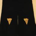 PIZZA socks emoji BLACK
