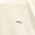 AREth l/s tee  stamp WHITE/SILVER