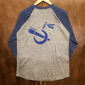 5nuts raglan tee 17SP back hunt logo HEATHER.GREY/HEATHER.NAVY/DEEP.BLUE