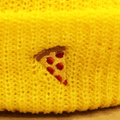 PIZZA beanie emoji YELLOW