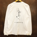 AREth l/s tee galaxy WHITE/BLACK