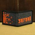 satori wallet hemp leaves be-fold DENIM