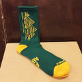 theories socks pyramids crew GREEN/GOLD