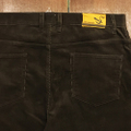 5nuts pants uniform corduroy Jr shape DARK.BROWN