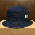color communications hat cotton tag bucket BLUE.DENIM