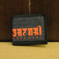 satori wallet hemp leaves be-fold DENIM