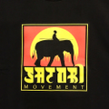satori cotton tee elephant BLACK