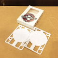 "independent riser pad 1/8"" WHITE"