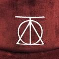 theories cap crest strapback MAROON corduroy