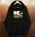 WKND pullover hood van on fire BLACK