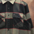 brixton l/s shirts bowery flannel HEATHER GRAY/CHARCOLE