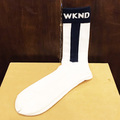 WKND socks baseball NAVY/WHITE