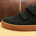 AREth shoe I velcro BLACK.NUBUCK
