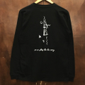 AREth l/s tee galaxy BLACK/WHITE