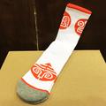 darkroom socks pod WHITE/ORANGE