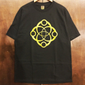 satori cotton tee big link BLACK