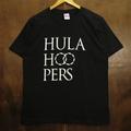 hulahoopers tee typo logo BLACK