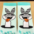 darkroom socks white rabbit LIGHT.BLUE