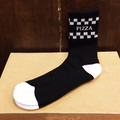PIZZA socks check BLACK