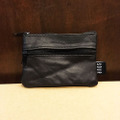 sour wallet barcy leather BLACK