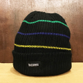 theories beanie thin stripe BLACK