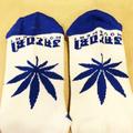 satori socks canna crew NATURAL/BLUE