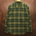 brixton l/s shirts bowery flannel EVERGREEN