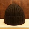 remilla beanie 2016 FW rib knit 帽 DK.BRN