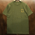 WKND tee logo MILITARY.GREEN/ORANGE
