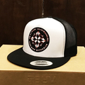 es la boom cap red logo WHITE/BLACK