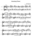 ②アメイジング・グレイス/フルート2重奏