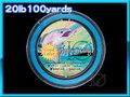 フライ用 バッキングライン 100yard Blue 青 20lbs