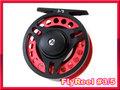 フライリール #3/4 Red Black ミッドアーバータイプ Fly Reel 黒赤