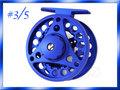 フライリール #3/4 ダイキャスト ブルー 青 Fly Reel フライフィッシング用
