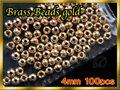 ブラス ビーズ Gold 100個セット Brass Beads 4mm