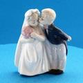 ポーセリン人形 祝福の二人
