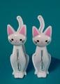 猫の洗濯バサミ  ホワイト(4個入り)