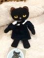 黒猫ミヌー ボールチェーン 青いドレス