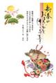 亥年2019-縁起物年賀状GE02