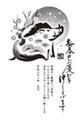 亥年2019-モノクロ年賀状GM03