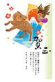 亥年2019-縁起物年賀状GE05
