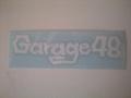 Garage48ステッカー(白)