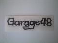 Garage48ステッカー(黒)