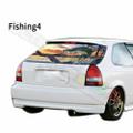グラフィック デカール ステッカー 車体用 / ホンダ シビック 1996 / リアウィンドウ フィッシングデザイン