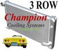 73-75 コルベット C3 Champion 3層 アルミ ラジエター   CC478