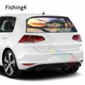 グラフィック デカール ステッカー 車体用 / フォルクスワーゲン ゴルフ 2018 2019 / リアウィンドウ フィッシングデカール